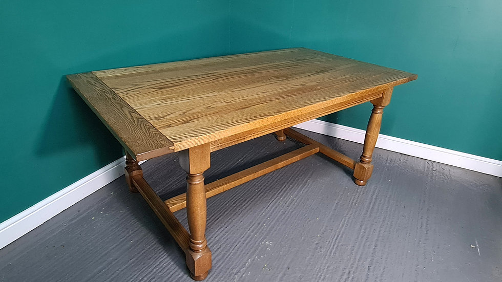 A 100% Solid Oak High Quality Refectory Dining Table ~Delivery Available~