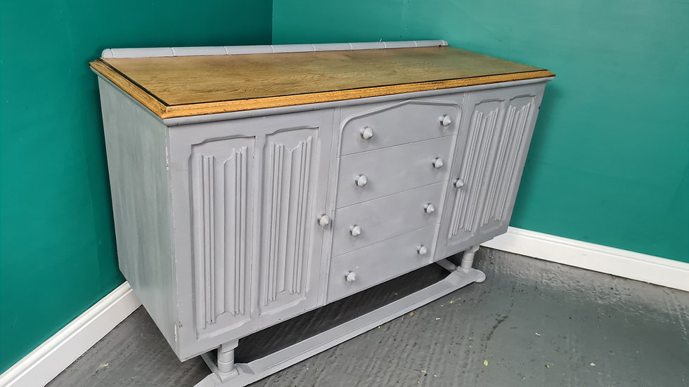 A Vintage Shabby Chic Chalk Painted Sideboard Cabinet ~Delivery Available~