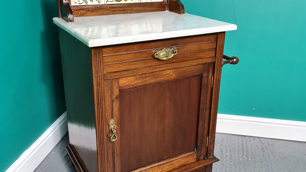An Antique Early 20th Century Oak Washstand Cabinet ~Delivery Available~