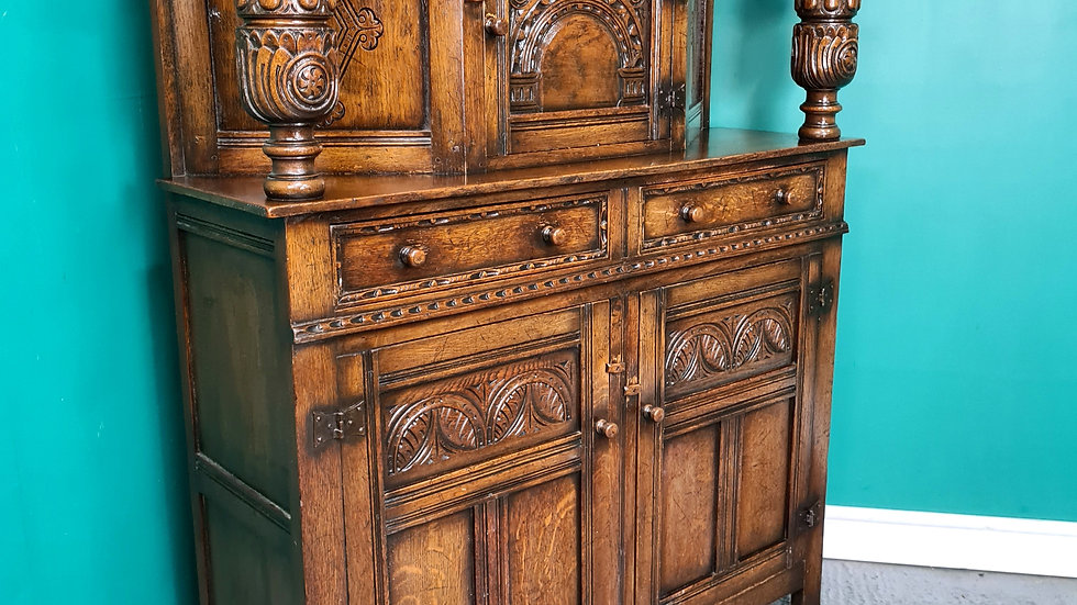 An Antique Style High Quality Solid Oak Court Cupboard Sideboard ~Delivery Avail