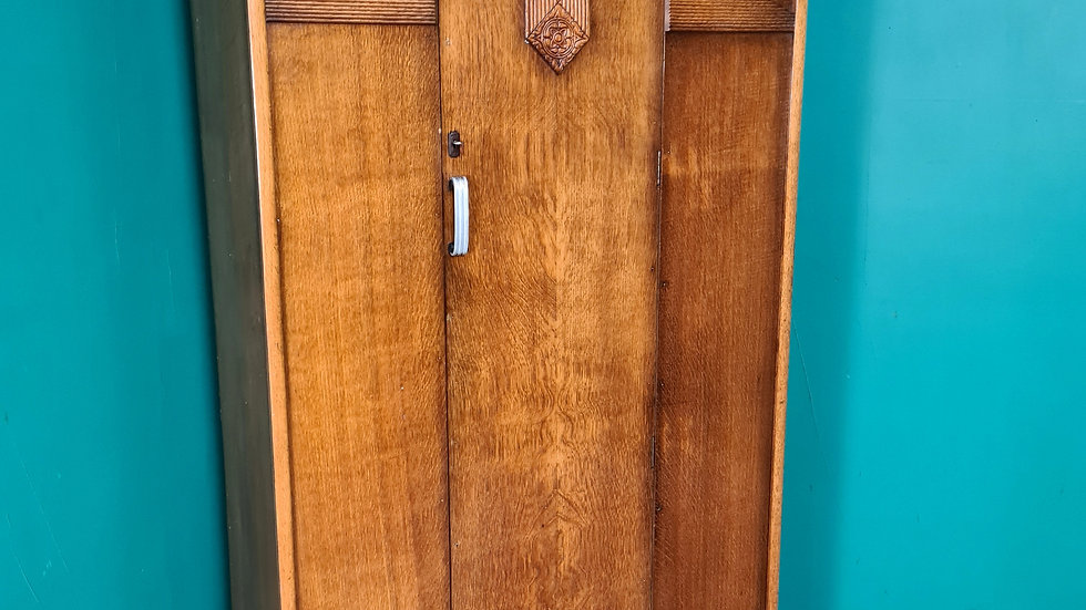 An Antique Mid 20th Century Oak Wardrobe ~Delivery Available~