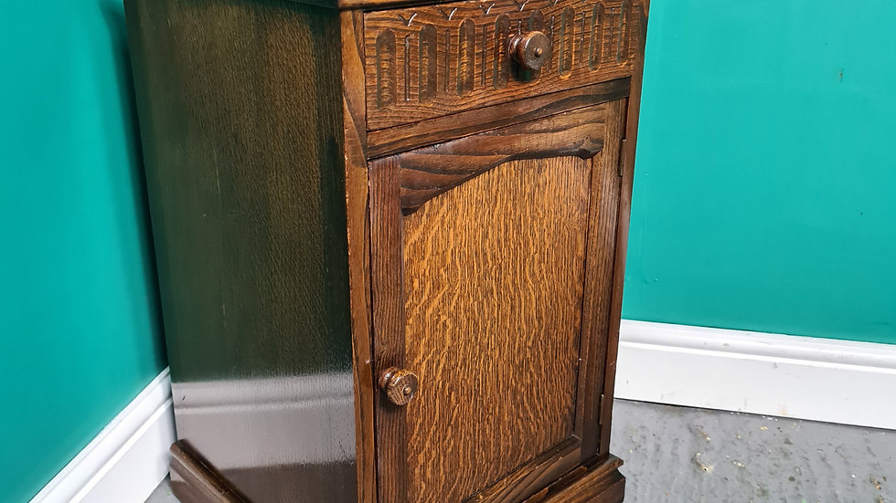 An Antique Old Charm Style Bedside Cabinet ~Delivery Available~