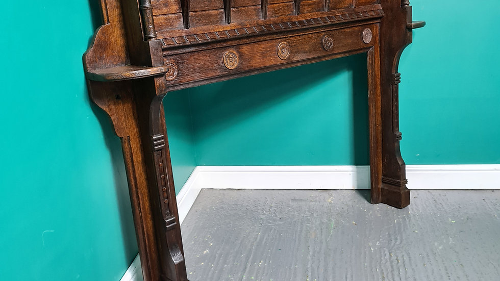 An Antique Late Victorian Oak Fire Surround ~Delivery Available~