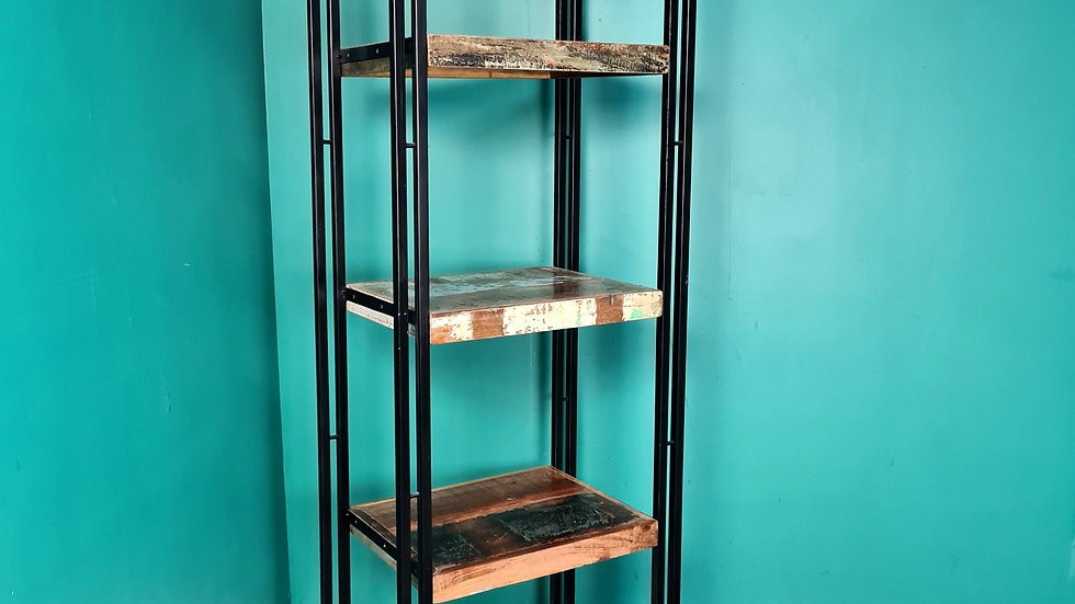 An Antique Style Reclaimed Metal Bookcase Stand ~Delivery Available~