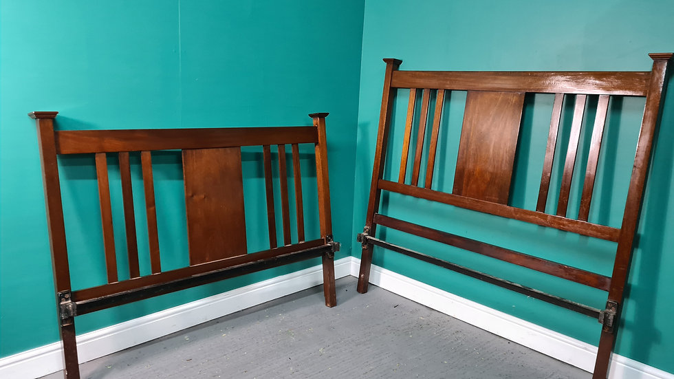 An Antique 20th Century Mahogany Double Bed Frame ~Delivery Available~