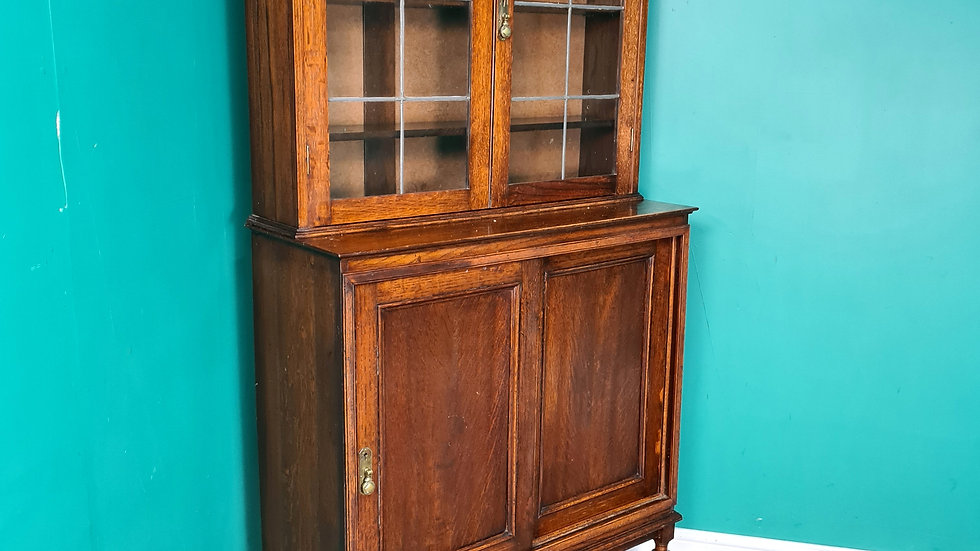 An Antique Early 20th Century Bookcase Cabinet Dresser ~Delivery Available~