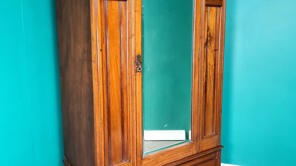 An Antique Edwardian Solid Walnut Wardrobe ~Delivery Available~