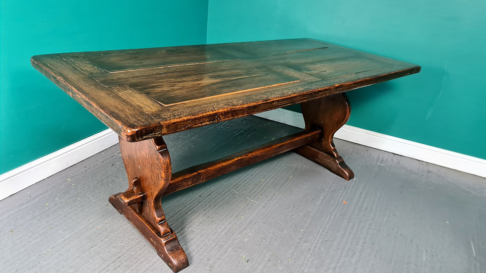 An Antique Solid Oak Refectory Dining Table ~Delivery Available~