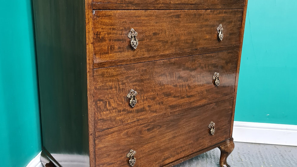 An Antique Mid 20th Century Mahogany Chest of Drawers ~Delivery Available~
