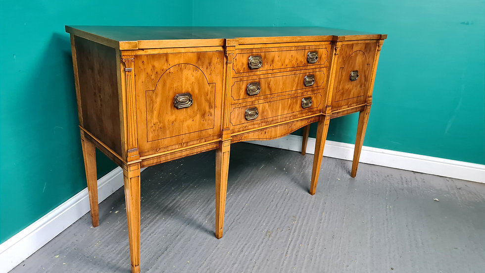 An Antique Georgian Style Yew Sideboard Buffet ~Delivery Available~