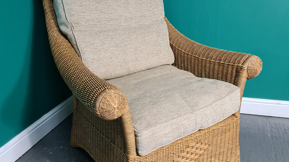 A Cane Rattan Wicker Conservatory Chair (2 Available) ~Delivery Available~