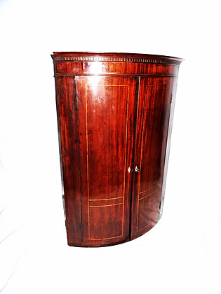 Georgian Bow Fronted Corner Cabinet