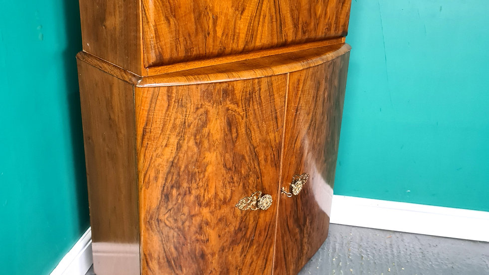 A Vintage 1960's Walnut Cocktail Cabinet ~Delivery Available~