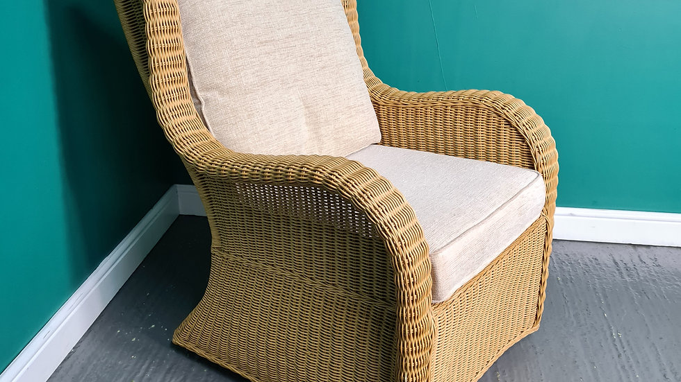 A Kingsway Cane Rattan Swivel Rocking Conservatory Chair ~Delivery Available~