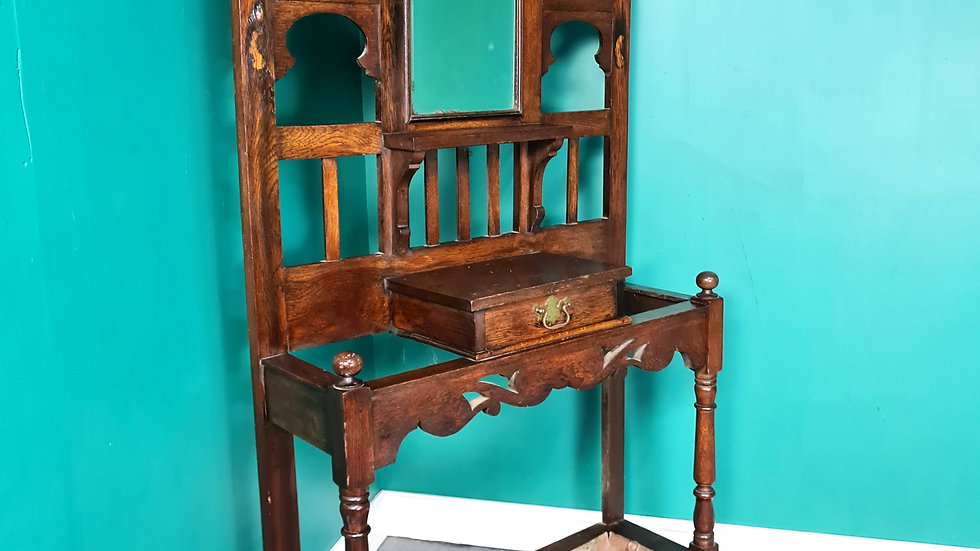 An Antique Victorian Oak Coat Umbrella Stand ~Delivery Available~