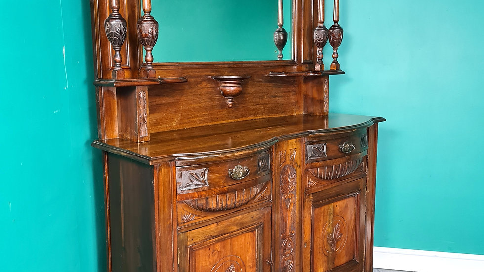 An Antique Art Nouveau Mirrored Back Dresser Sideboard ~Delivery Available~
