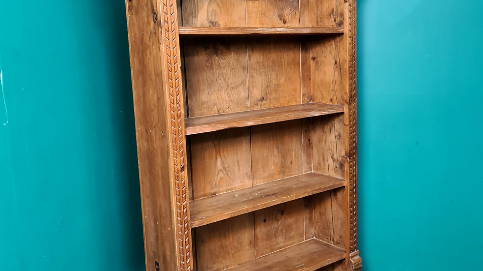 An Antique 19th Century Pitch Pine Bookcase ~Delivery Available~