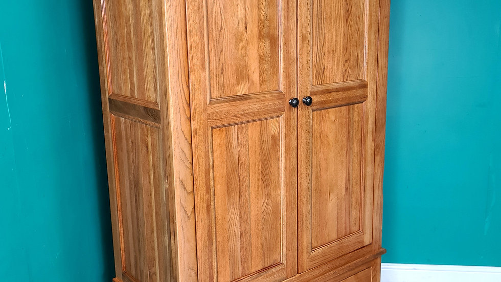 A Modern Antique Style Solid Oak Double Wardrobe ~Delivery Available~