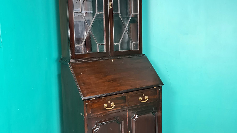 An Antique Early 20th Century Bureau Bookcase Desk~Delivery Available~