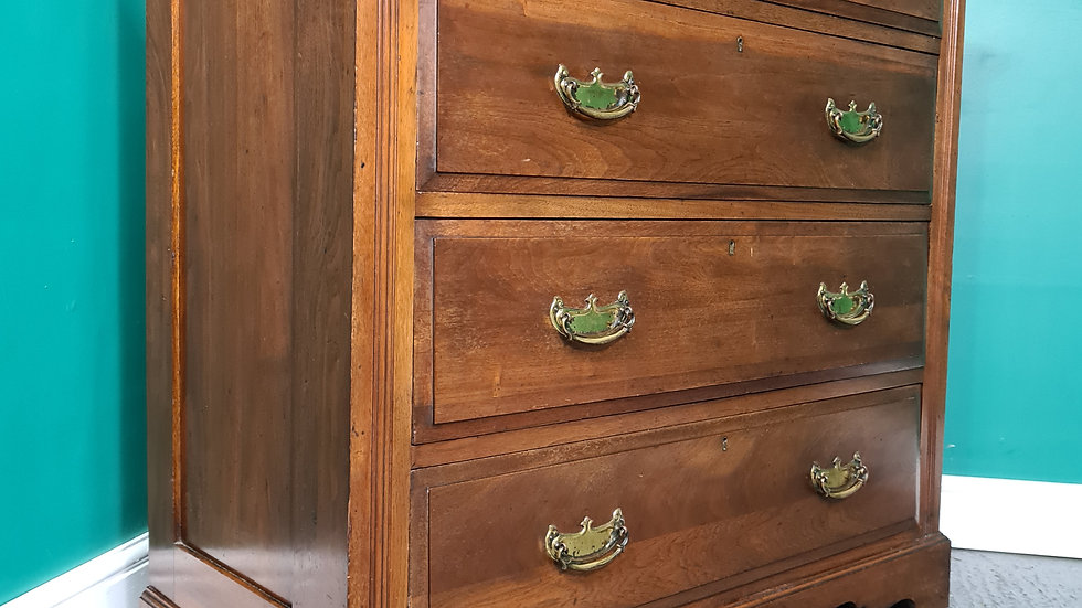 An Antique Early 20th Century Solid Walnut Chest of Drawers ~Delivery Available~