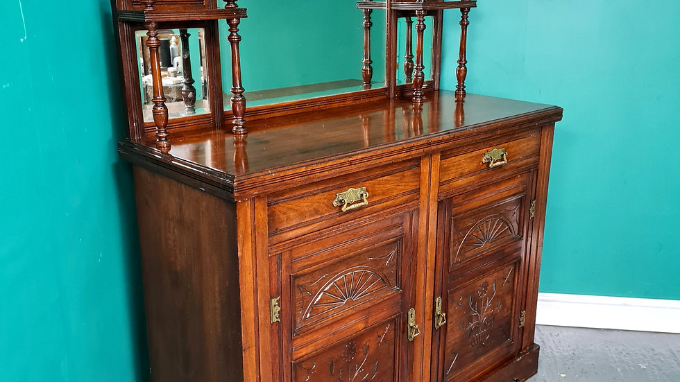 An Antique Victorian Mahogany Chiffonier Sideboard Cabinet ~Delivery Available~