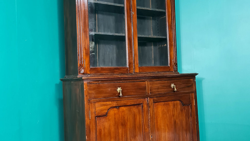 An Antique Victorian Mahogany Bookcase Cabinet ~Delivery Available~