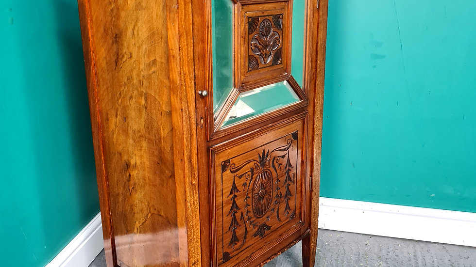 An Antique Victorian Walnut Shoe Cupboard Cabinet ~Delivery Available~