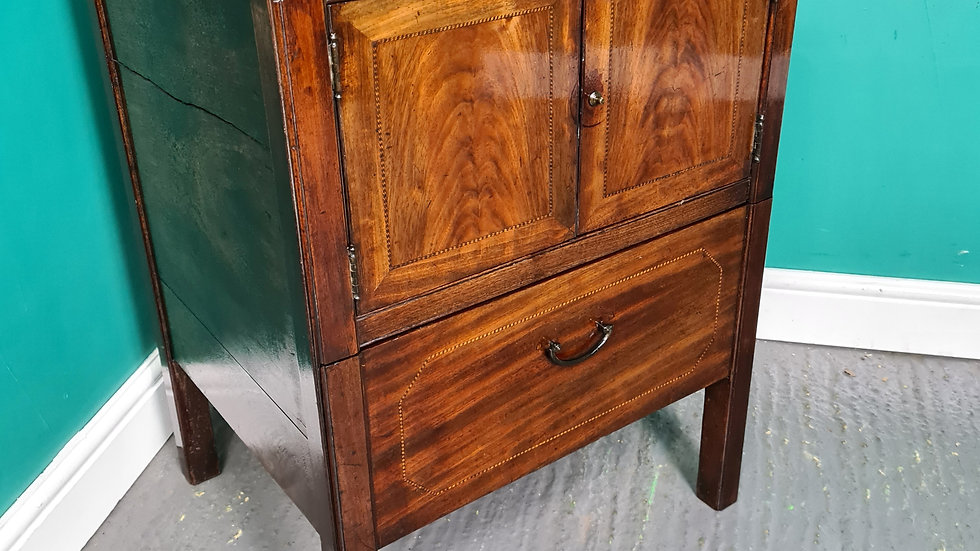 An Antique Victorian Bedside Table Re-purposed Commode ~Delivery Available~