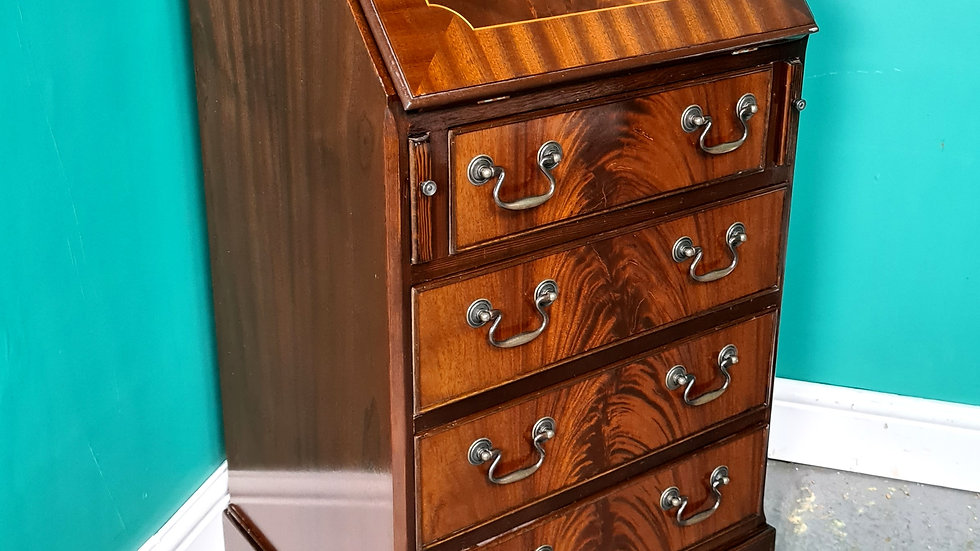An Antique Style Flame Mahogany Bureau Desk~Delivery Available~