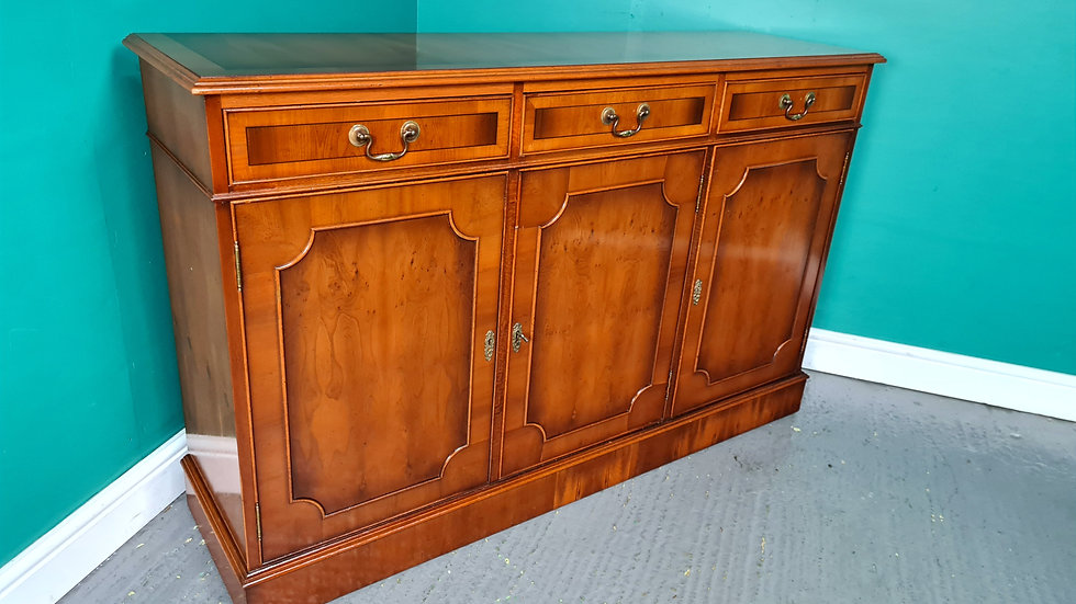 An Antique Style Yew Sideboard Cabinet Cupboard ~Delivery Available~