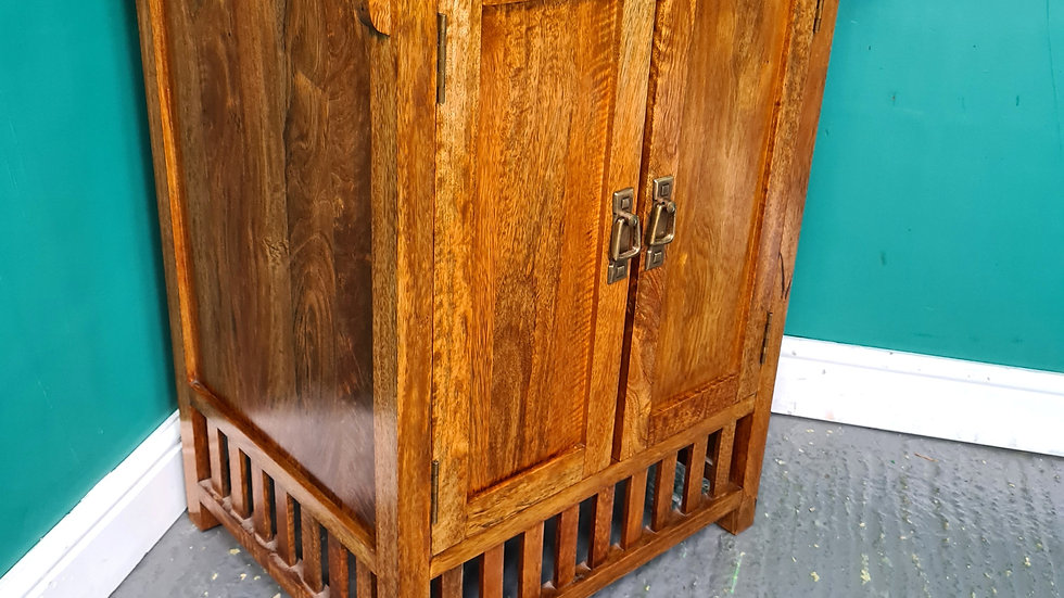 An Antique Arts and Crafts Style Mango Cabinet Cupboard ~Delivery Available~