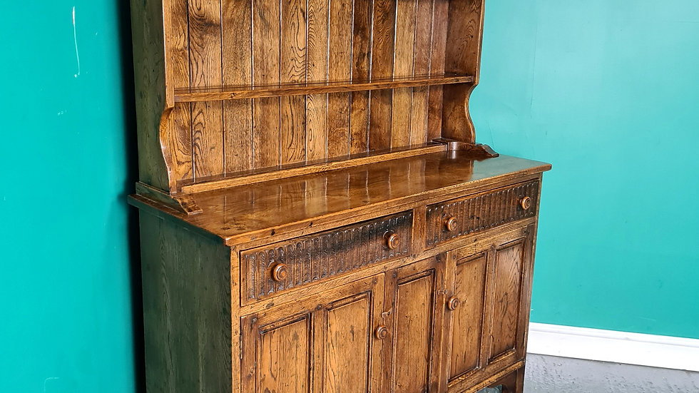 An Antique High Quality Solid Oak Welsh Dresser Sideboard ~Delivery Available~