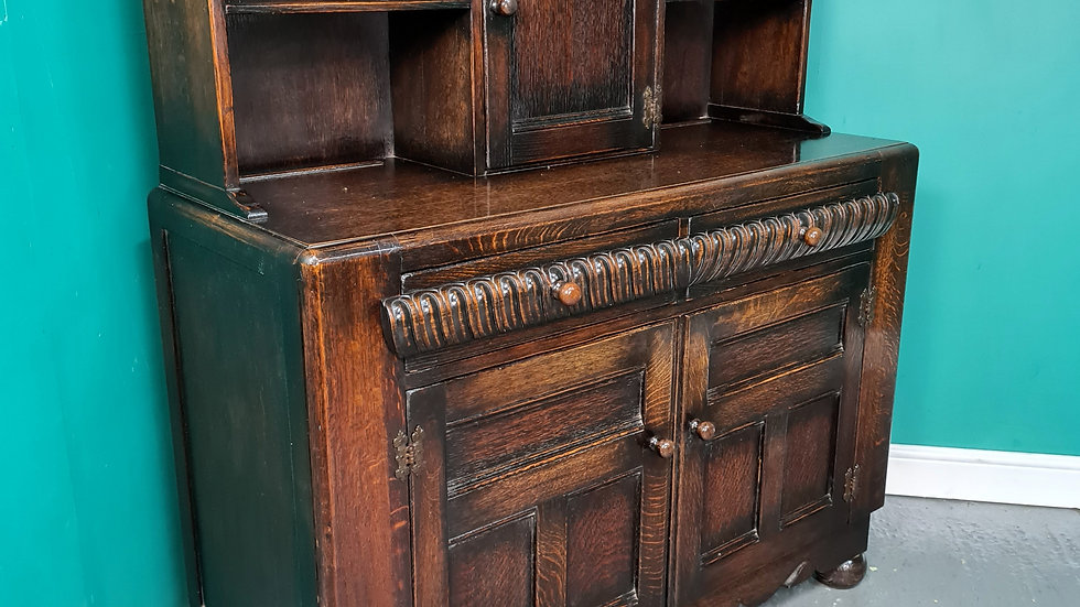 An Antique 20th Century Oak Court Cupboard Sideboard ~Delivery Available~