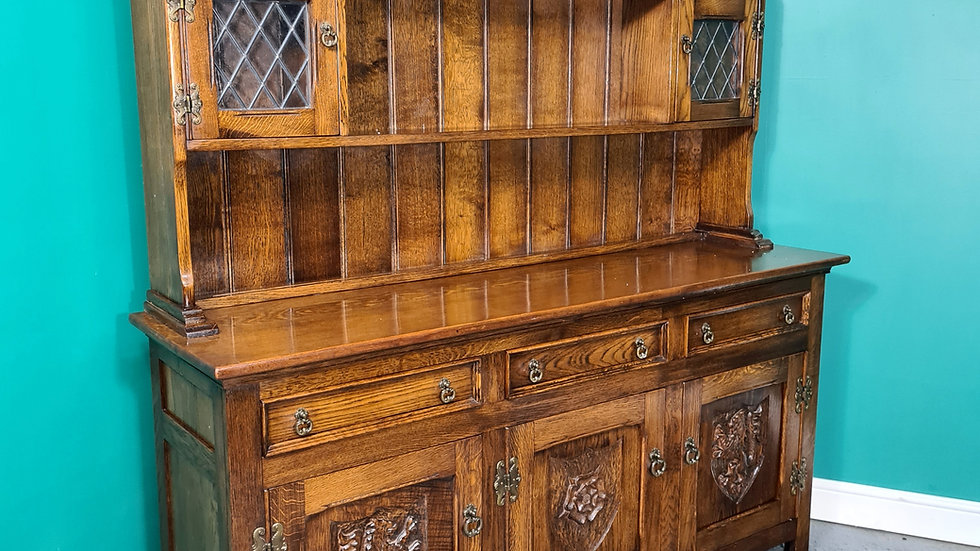 An Antique Style Solid Oak Welsh Dresser Sideboard ~Delivery Available~