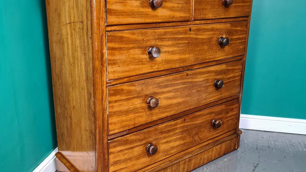 An Antique Victorian Mahogany Chest of Drawers ~Delivery Available~