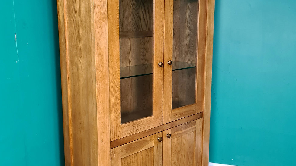 A Modern Solid Oak Bookcase Cabinet Display Unit ~Delivery Available~