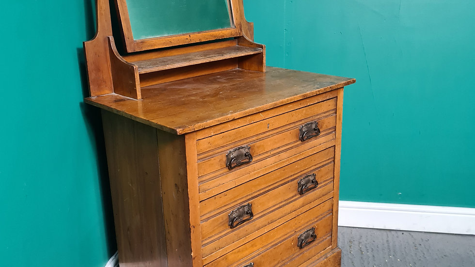 An Antique Satinwood Dressing Chest of Drawers ~Delivery Available~