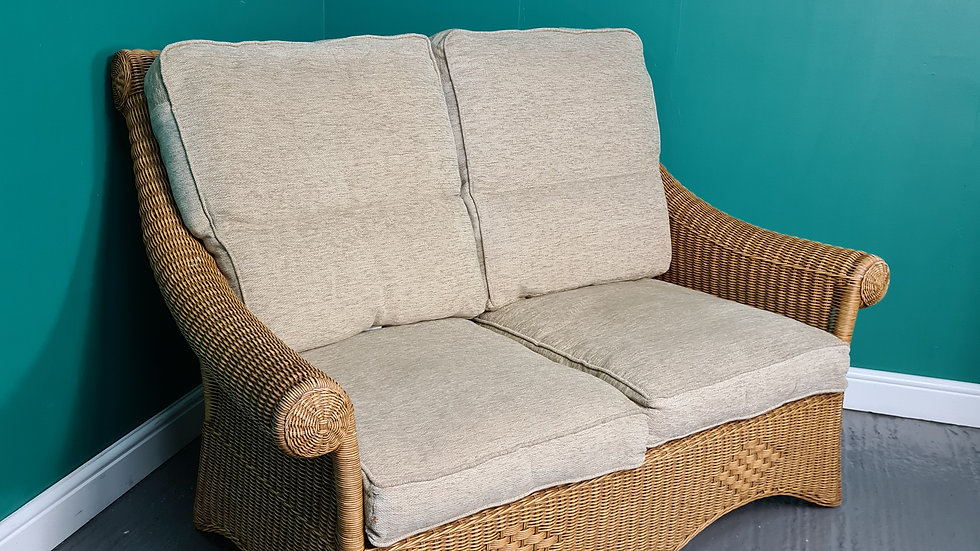 A Cane Rattan Wicker Double Seater Conservatory Sofa  ~Delivery Available