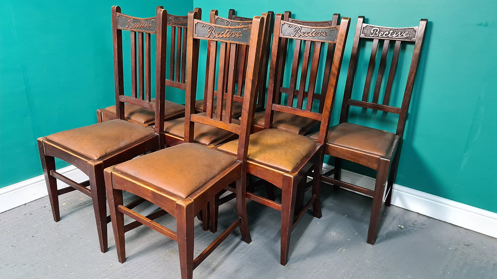 An Antique Arts and Crafts Set of 8 Dining Chairs ~Delivery Available~