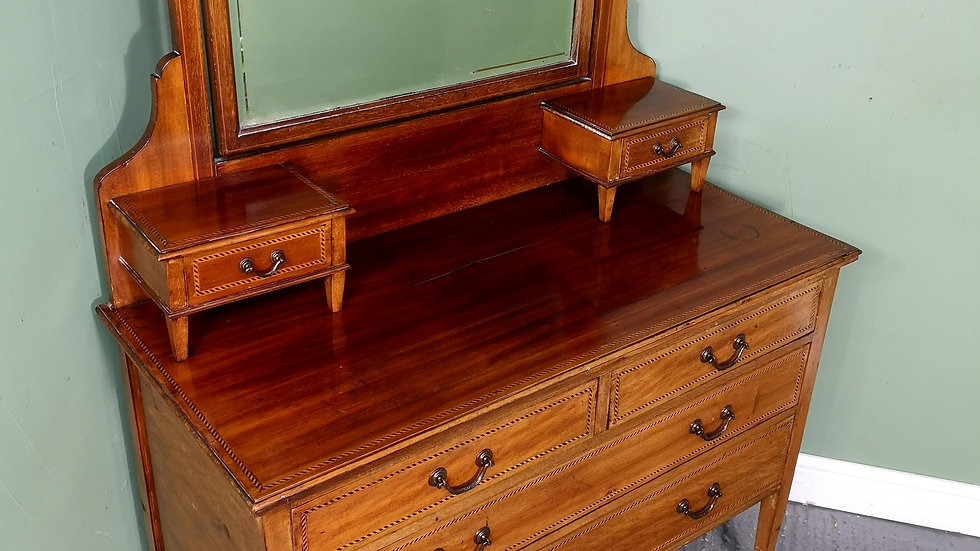 An Antique Early 20th Century Mahogany Dressing Chest of Drawers