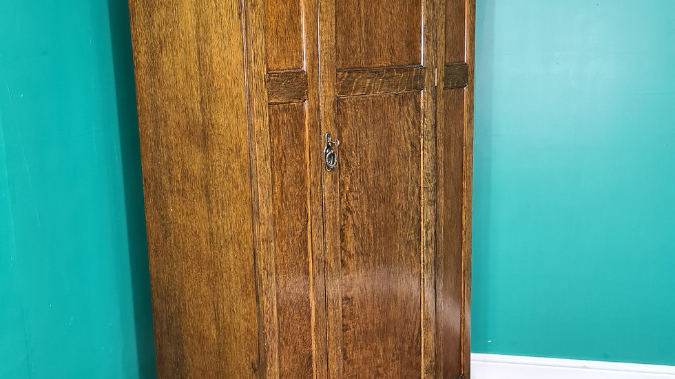An Antique Mid 20th Century Single Door Wardrobe ~Delivery Available~