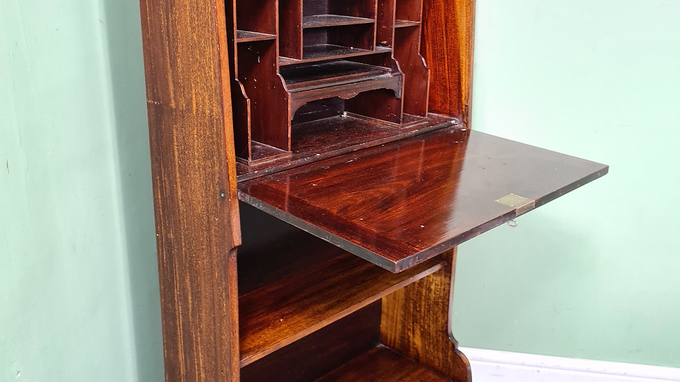 An Antique Edwardian Bachelors Bureau Desk