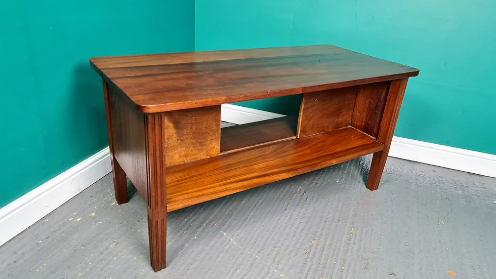 An Antique Style Solid Mahogany Coffee Table ~Delivery Available~