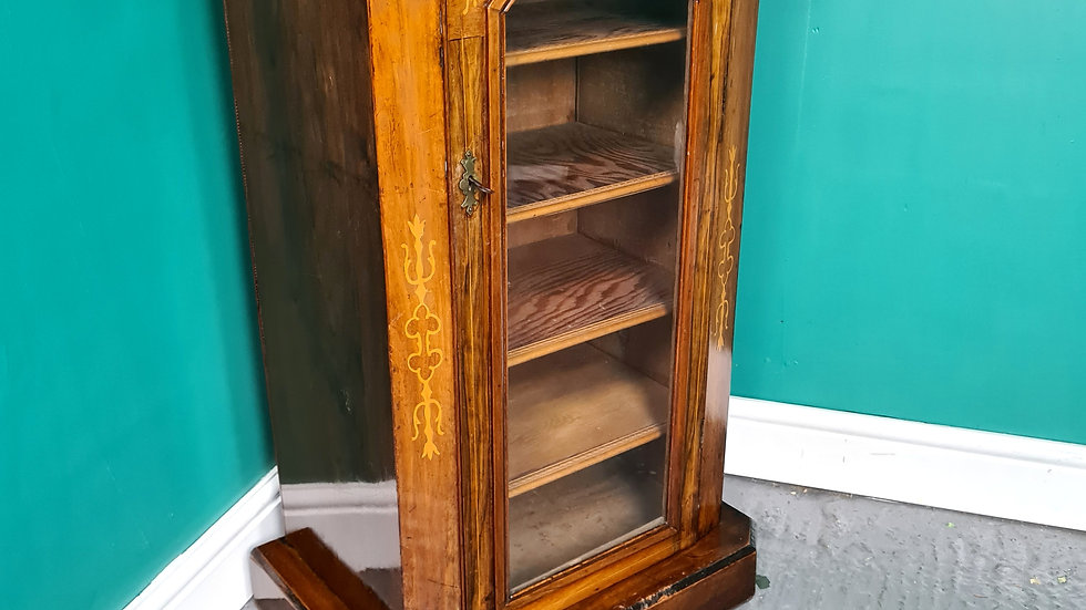 An Antique Victorian Walnut Cabinet Shoe Cupboard ~Delivery Available~
