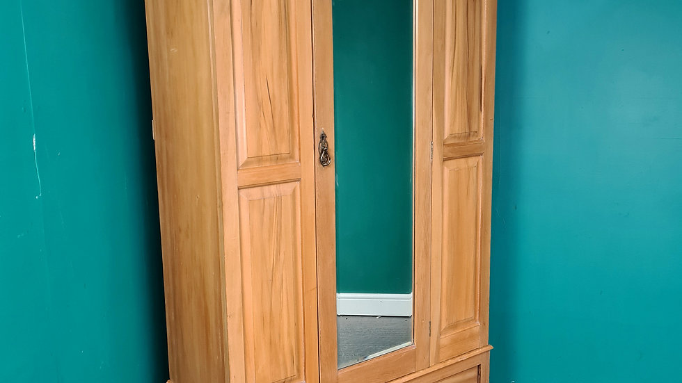 An Antique 20th Century Solid Satinwood Wardrobe ~Delivery Available~