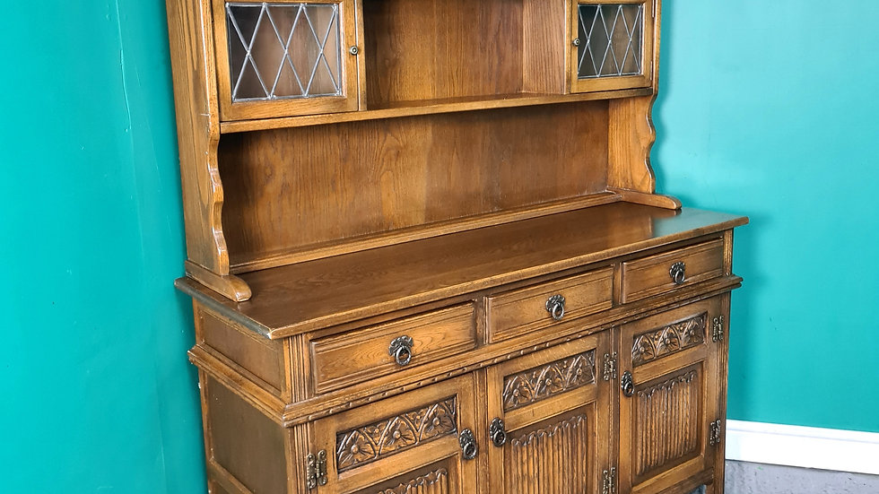 An Antique Style Old Charm Oak Welsh Dresser ~Delivery Available~