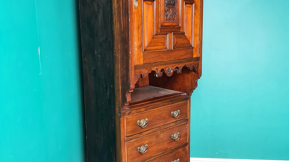 An Antique Victorian Walnut Wardrobe Centre Section Cabinet ~Delivery Available~