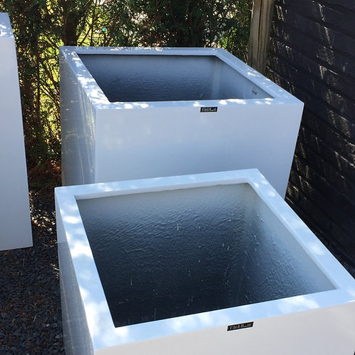 Lakbak vierkant wit 60x60x60