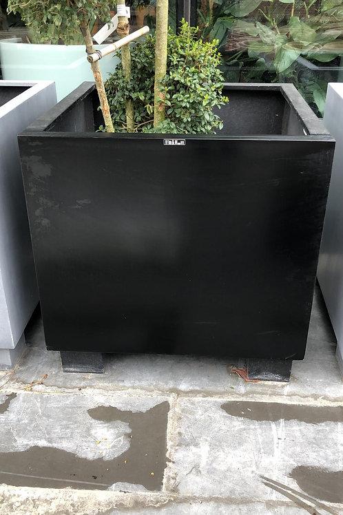 Fiber oliveplanter zwart 70x70x70