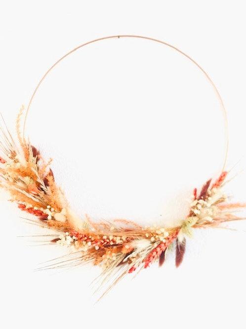 Droogkrans - oranje/bruin - diameter 25cm